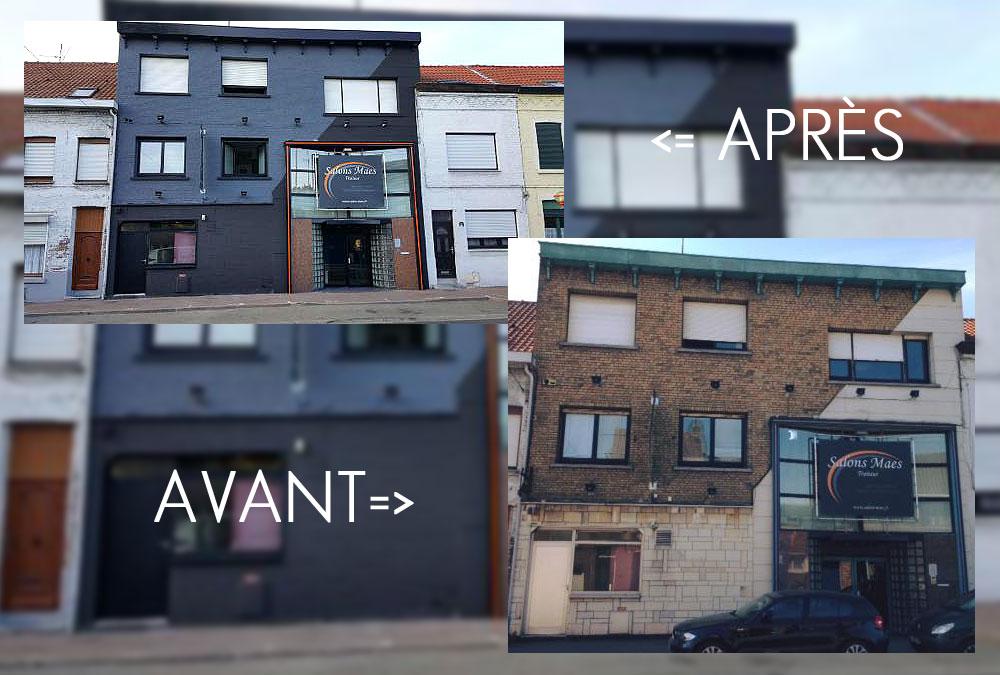Notre savoir faire en peinture exterieure entreprise dsf for Peinture de facade